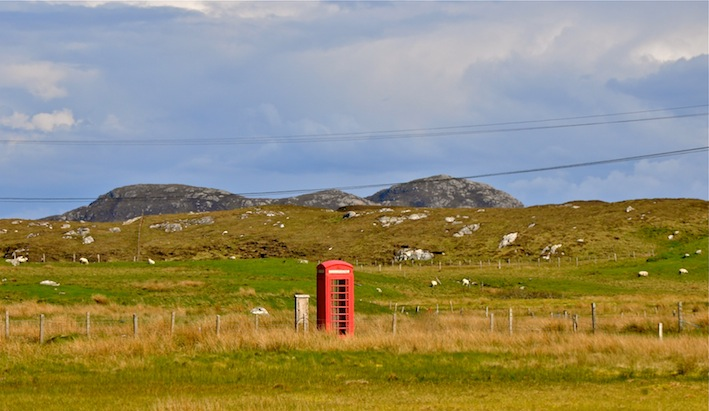 Hebrides Red Phone Box