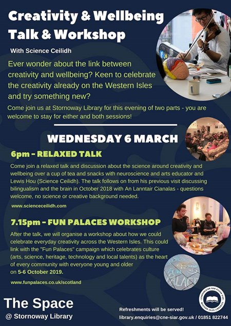 Creativity & Wellbeing Talk and Workshop